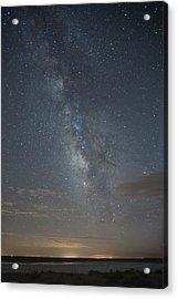 Blue Milky Way Acrylic Print