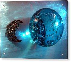 Blue Moon 2 Acrylic Print by Maria Evangelatou