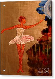 Acrylic Print featuring the painting Blue Moon Balerina by Ayasha Loya