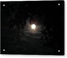 Blue Moon Acrylic Print by K Walker
