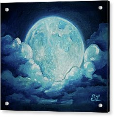 Blue Moon Acrylic Print by Sarah Lonthier