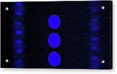 Blue Moons Acrylic Print by James Mancini Heath