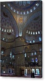 Blue Mosque Interior Acrylic Print by Cheri Randolph