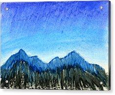 Blue Mountains Acrylic Print by Hakon Soreide