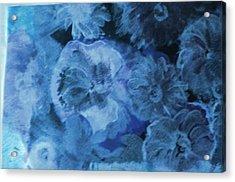 Blue Muted Memories Acrylic Print by Anne-Elizabeth Whiteway