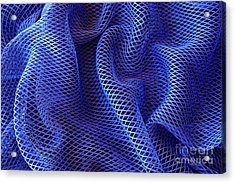 Blue Net Background Acrylic Print by Carlos Caetano
