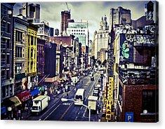 Blue New York City Acrylic Print by Brian Lambert