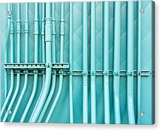 Blue Pipes Acrylic Print by Tom Gowanlock