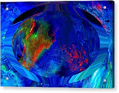 Blue Planet Acrylic Print by Colleen Cannon