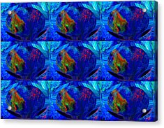 Blue Planet - Tiled Acrylic Print by Colleen Cannon