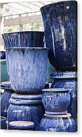 Blue Pots For Sale Acrylic Print by Teresa Mucha