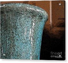 Blue Pottery Acrylic Print