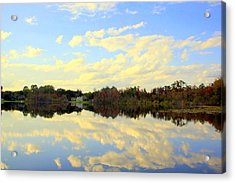 Blue Reflections Acrylic Print
