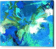 Blue Resonance Acrylic Print by Charles Yates