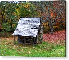 Blue Ridge Cabin Acrylic Print