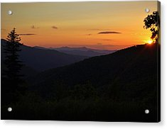Blue Ridge Mountain Sunset Acrylic Print by Jeff Moose