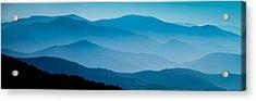 Blue Ridges Panoramic Acrylic Print