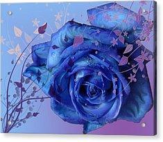 Blue Rose Acrylic Print