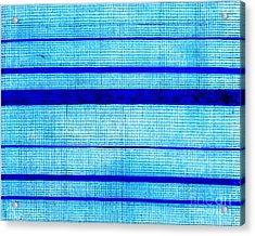 Blue Sha Gauze Weave With Stripes Print 1825 Acrylic Print by Padre Art