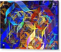 Blue Shift Acrylic Print by Kim Sy Ok