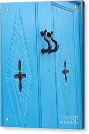 Blue Sidi Bou Said Tunisia Door Acrylic Print by Eva Kaufman