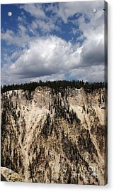 Acrylic Print featuring the photograph Blue Skies And Grand Canyon In Yellowstone by Living Color Photography Lorraine Lynch