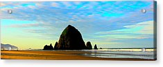 Blue Skies-h Acrylic Print by Steve Alcombrack