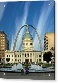 Blue Skies Over St. Louis Acrylic Print by Marty Koch