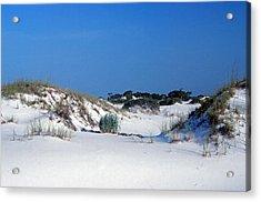 Blue Sky And Sand Acrylic Print