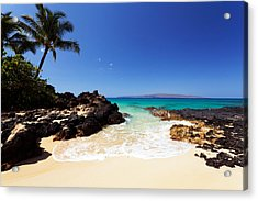 Blue Sky At Secret Beach Makena Acrylic Print