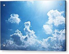 Blue Sky Background Acrylic Print by Anna Om