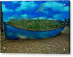 Acrylic Print featuring the photograph Blue Sky Boat  by Chris Lord