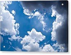 Blue Sky Acrylic Print by Gaurishankar Khatri