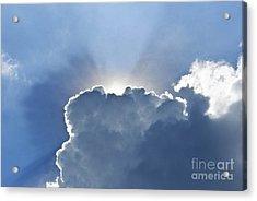 Blue Sky With Sun And Beautiful Clouds Acrylic Print by Jeng Suntorn niamwhan