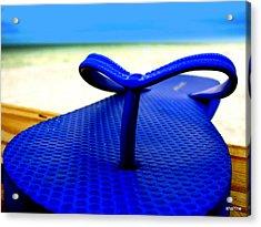 Blue Slippa Acrylic Print