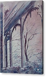 Acrylic Print featuring the painting Blue Snow by Patsy Sharpe