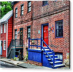 Blue Steps Acrylic Print by Debbi Granruth