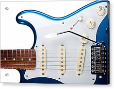 Acrylic Print featuring the photograph Blue Strat by Kim Wilson