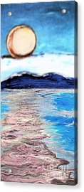 Blue Sunrise Rendered Acrylic Print