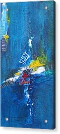 Acrylic Print featuring the painting Blue Thunder by Nicole Nadeau