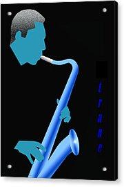 Blue Trane Acrylic Print by Victor Bailey