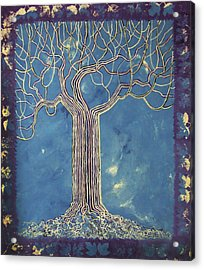 Blue Tree Acrylic Print by Alain  Guiguet