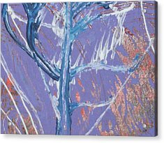 Blue Tree Acrylic Print by Anne-Elizabeth Whiteway