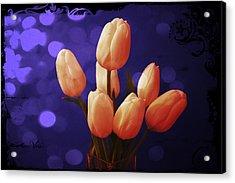 Blue Tulip Acrylic Print by Shweta Singh