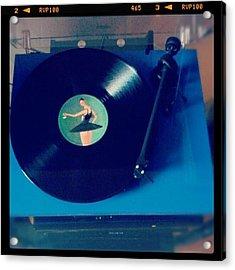 Blue Turntable Acrylic Print