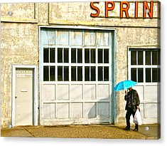 Acrylic Print featuring the photograph Blue Umbrella by Brian Sereda
