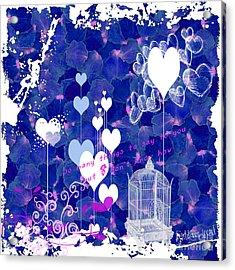 Blue Valentine Acrylic Print
