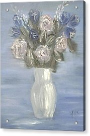 Acrylic Print featuring the painting Blue Vase by Angela Stout