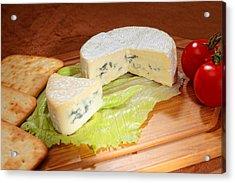 Blue-veined Camembert Acrylic Print by Paul Cowan