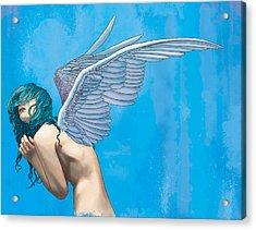 Blue Acrylic Print by Vincent Danks